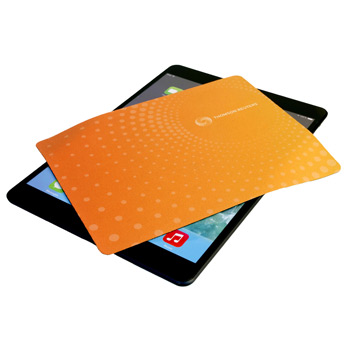 Travel Soft™ Mouse Pad (Small)/Microfiber Cleaning Cloth & Keyboard Protector